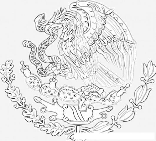 Cómo dibujar el Escudo de México? - Escudo de México